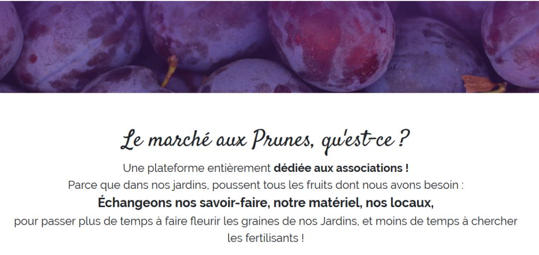 marché aux prunes